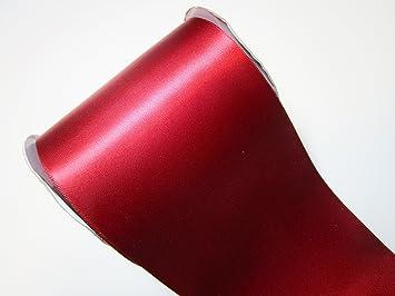 CaPiSo 10 m Satin-Schleifenband Geschenkband Breit Dekoband Dekoration in 10 cm Breite Fuchsia