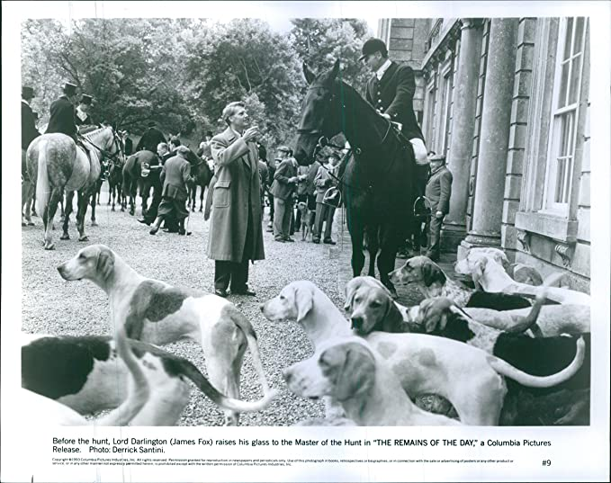 Amazon Com Vintage Photo Of 1993before The Hunt Lord Darlington James Fox Raises His Glass To The Master Of The Hunt In The Remains Of The Day Entertainment Collectibles