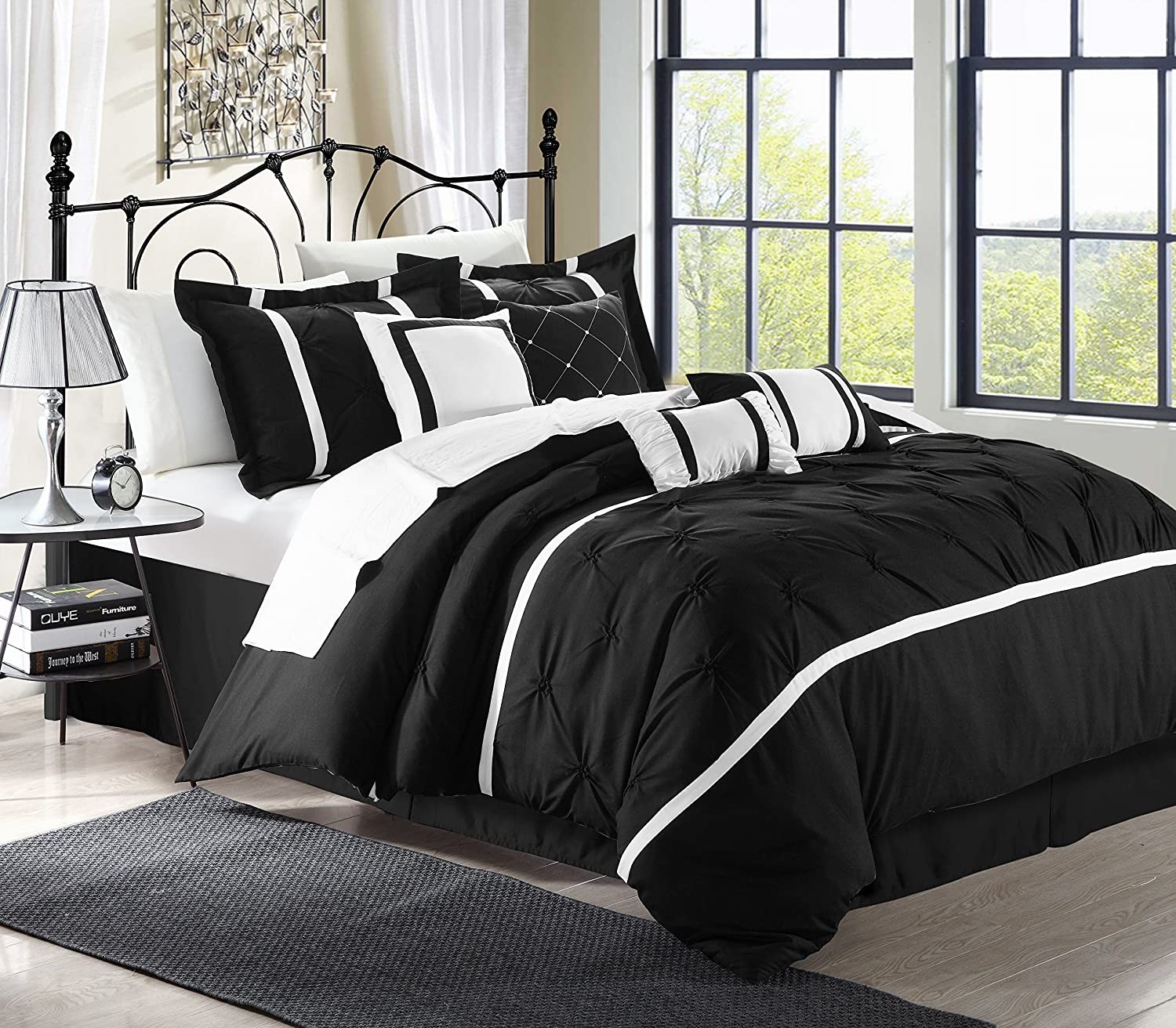 Amazon Chic Home Vermont 12 piece Bedding forter Set Cozy