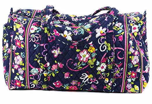 798e4e20fba6 Image Unavailable. Image not available for. Color  Vera Bradley Large  Duffel Ribbons