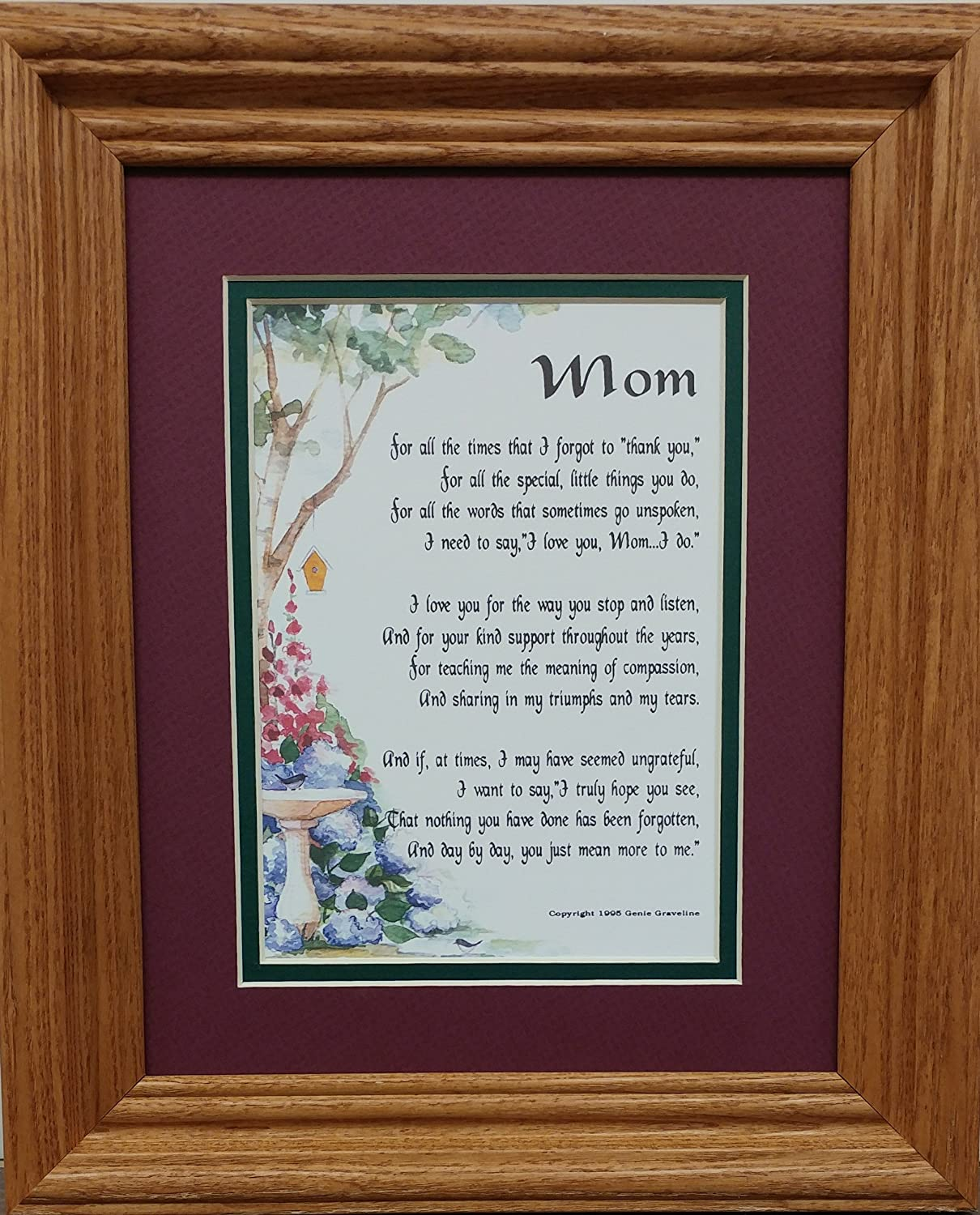 Amazon Genies Poems 3003 Framed Mom Poem Mothers Day Birthday Gift Present For A Mother Home Kitchen