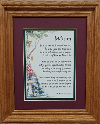 Amazoncom Genies Poems 3003 Framed Mom Poem Mothers Day