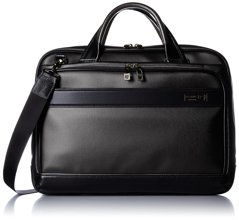 [バーマス] ビジネスバッグ MIJ 日本製 ブリーフ 42cm A4収納可能 2WAY 豊岡鞄認定商品 60036-10 B01AVRU00Gブラック