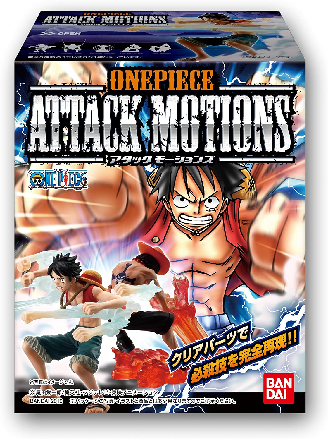 Bandai - Pack de 10 Figurines One Piece Attack Motions Vol1 ...