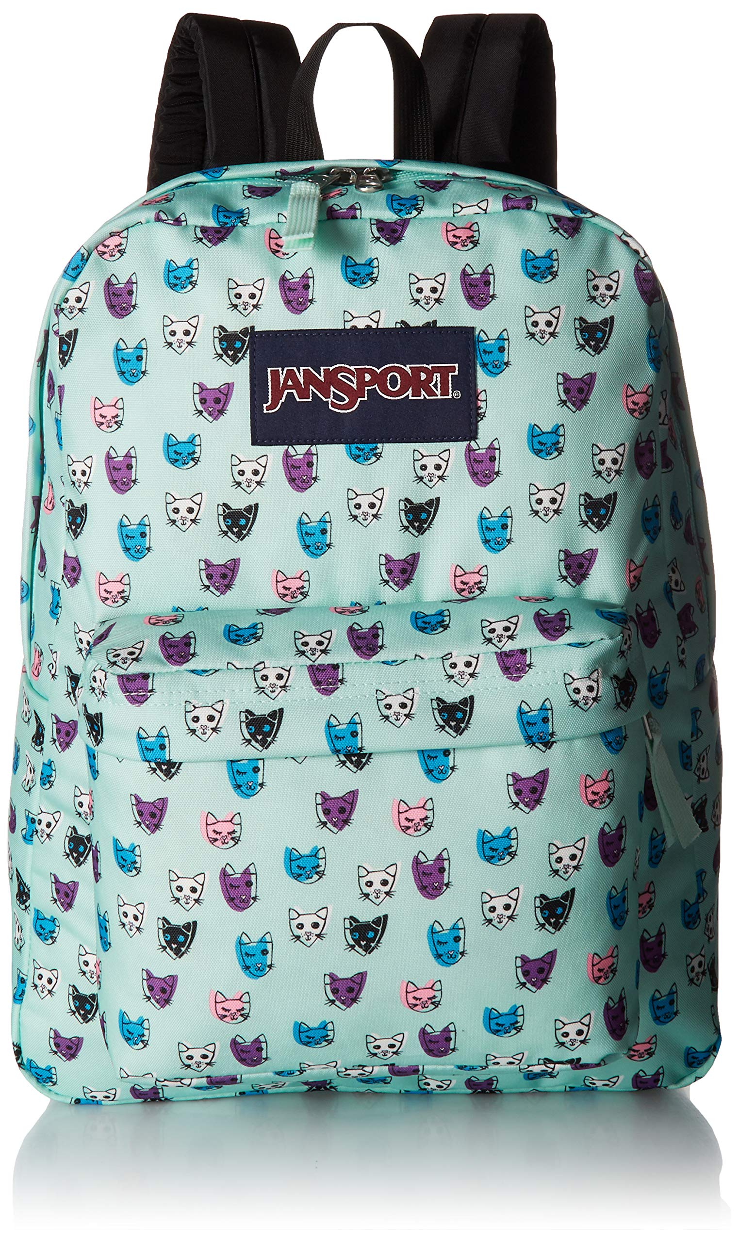 JanSport Superbreak Backpack Brook Grren Cool Cats
