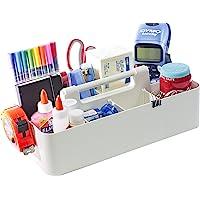 New! Enjoy Organizer - Office Storage Portable Organizer DIY Basket Caddy -Made in USA (Ivory)