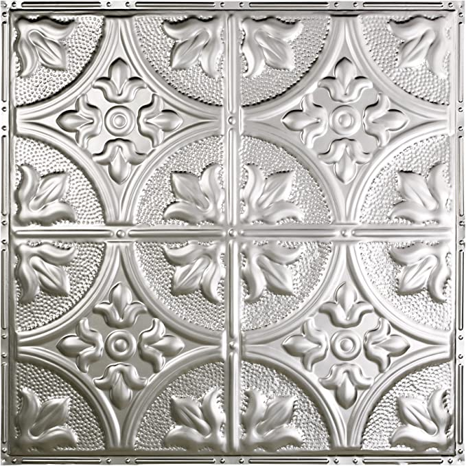 Choose from 11 Styles Package of Five 2ft x 2ft Panels Easy to Install Great Lakes Tin Ludington Antique White Nail-Up Ceiling Tiles Perfect for DIY and Home Renovation Projects