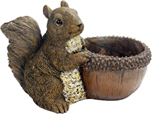 Michael Carr Designs Squirrel Planter Outdoor Squirrel Planter Figurine for Gardens, patios and lawns (80081)