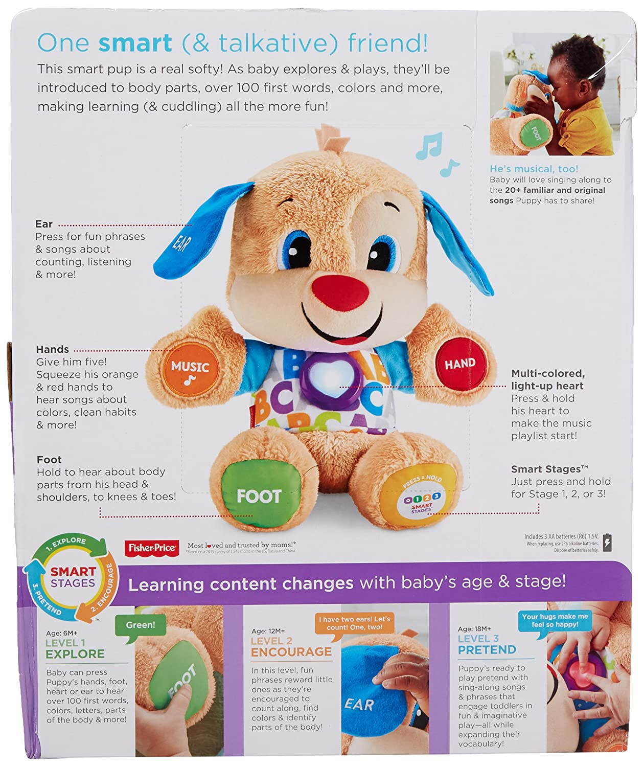 Amazoncom Fisher Price Laugh Learn Smart Stages Puppy Toys Games