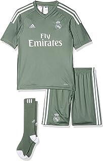 77c8d87a7 adidas Children s Replica Real Madrid Home Goalkeeper Shirt ...