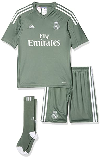 various colors a4244 9af6b adidas Real Madrid Home Goalkeeper Mini Kit, Children's, B31103