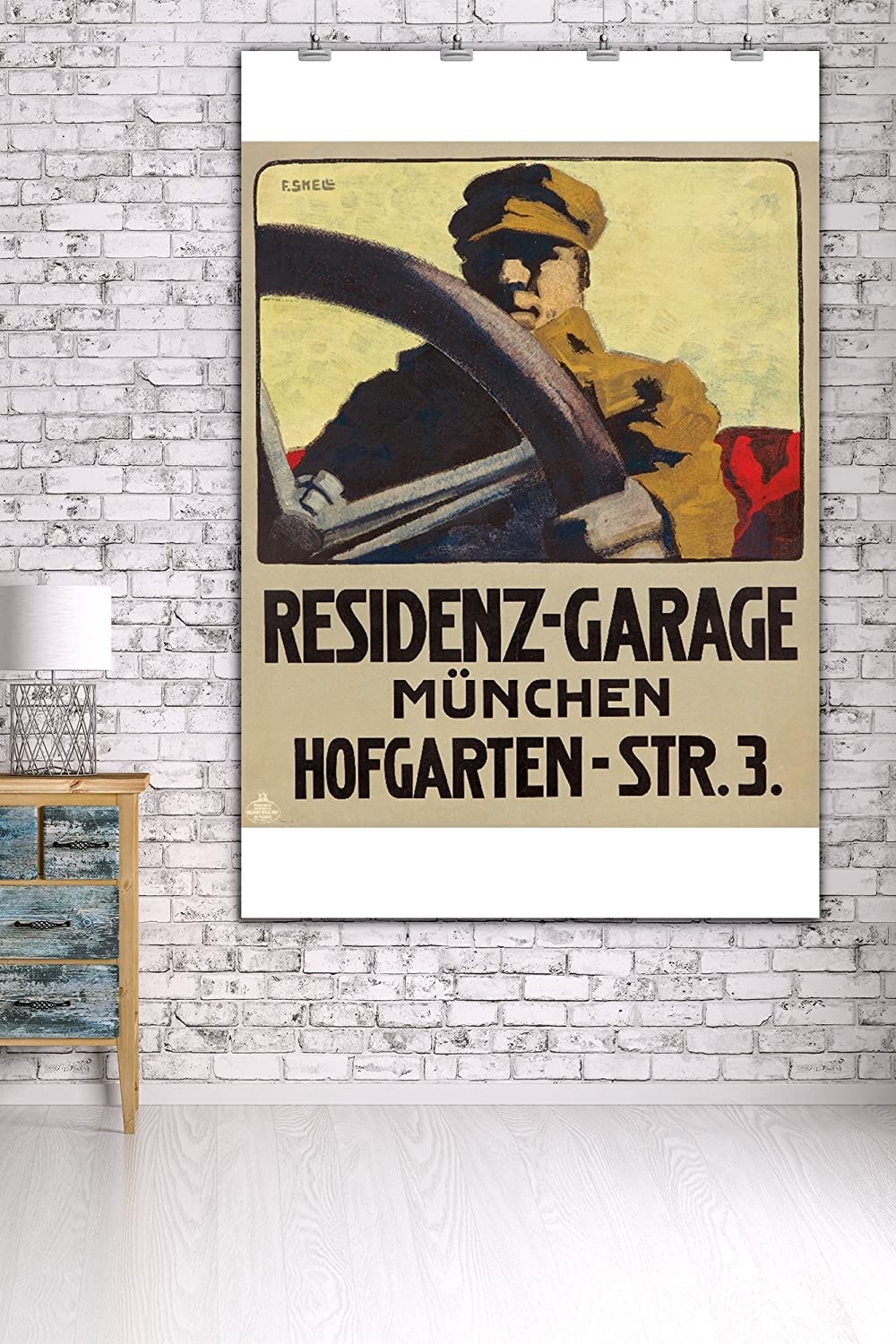 Amazon.com: Residenz - Garage Vintage Poster (artist: Skell, Friedrich) Germany c. 1910 (36x54 Giclee Gallery Print, Wall Decor Travel Poster): Home & ...