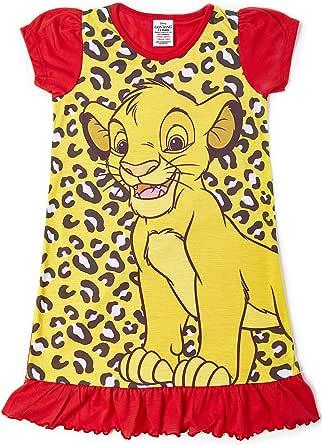 Disney Camisón para Chicas De Princesa Personajes De Televisión   con El Rey León, Aladdin, Cenicienta, Paw Patrol, Little Mermaid   Ropa De Dormir para Niños
