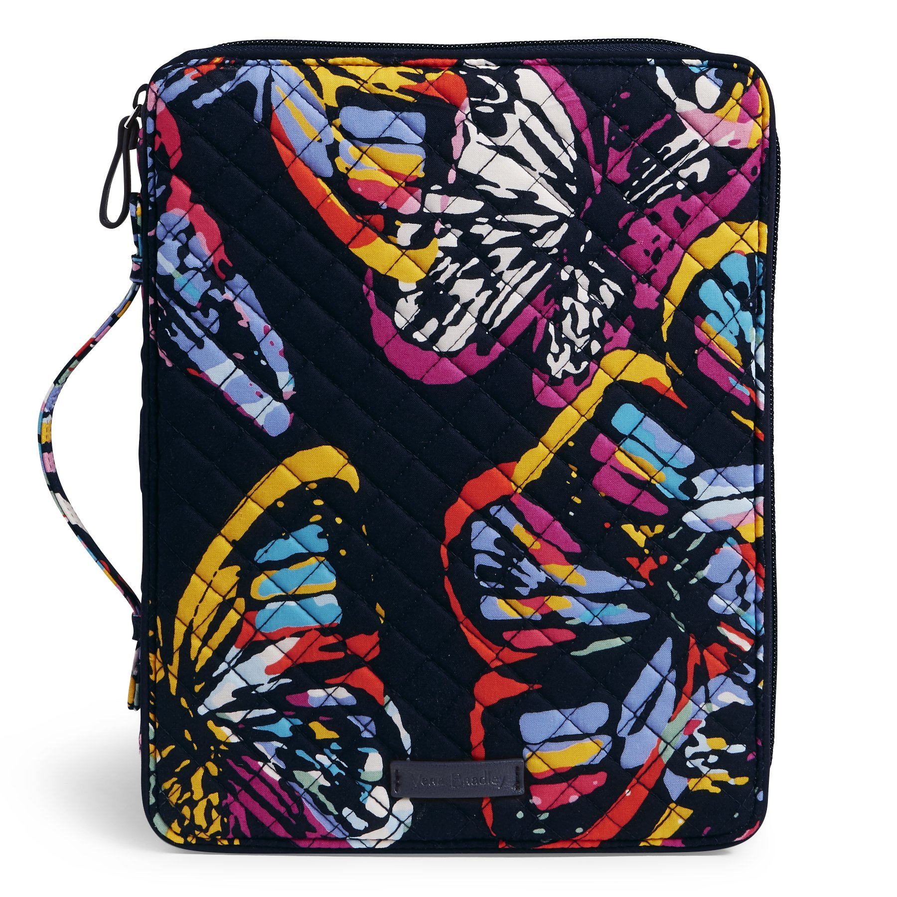 Vera Bradley Iconic Tablet Tamer Organizer, Signature Cotton, Butterfly Flutter