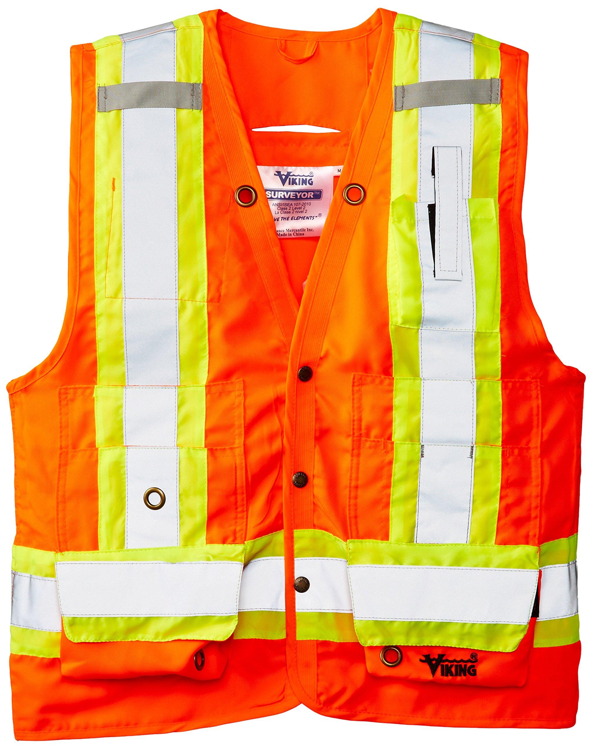 Viking Surveyor Hi-Vis Safety Vest, Orange, 3X-Large by Viking (Image #1)
