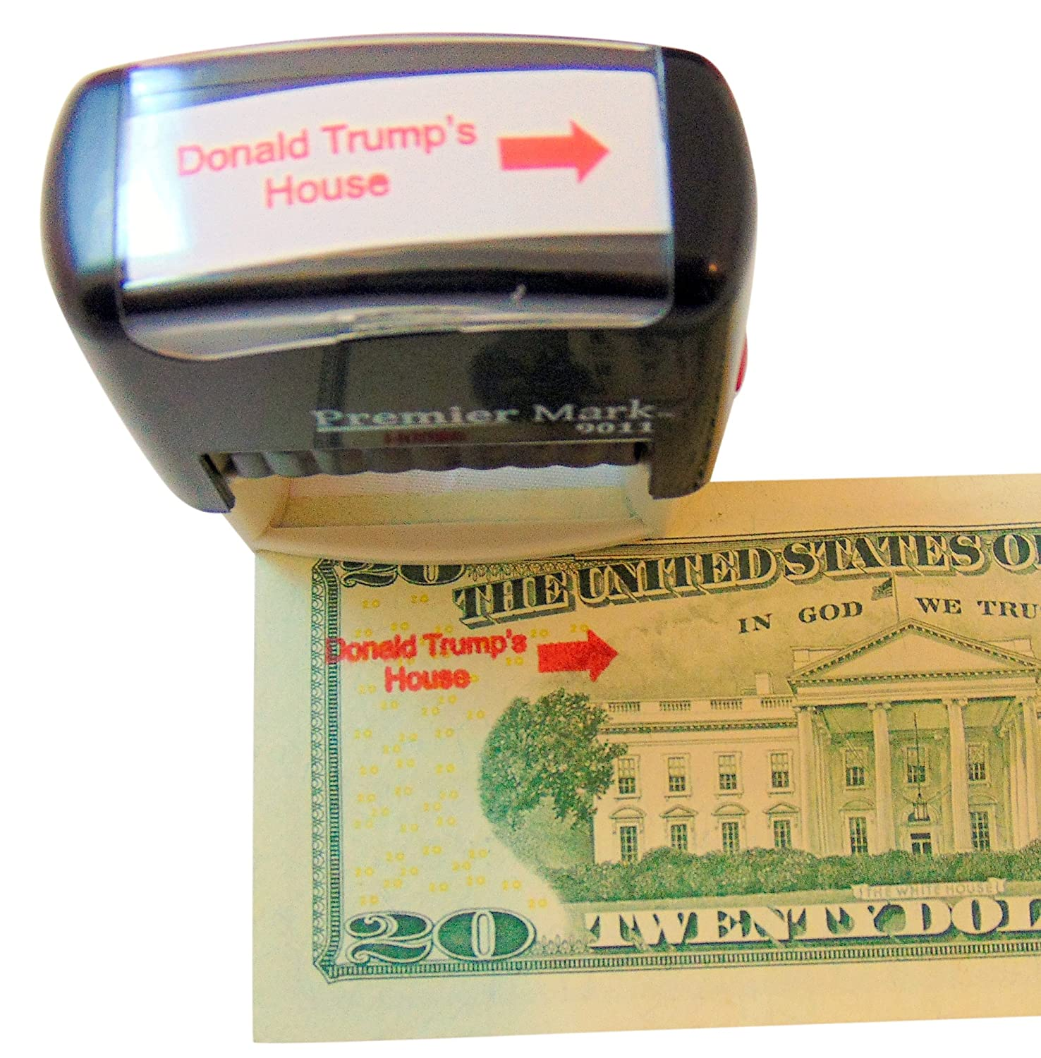 Amazon Westman Works Donald Trumps House Self Inking Rubber Stamp With Red Ink And Arrow Office Products