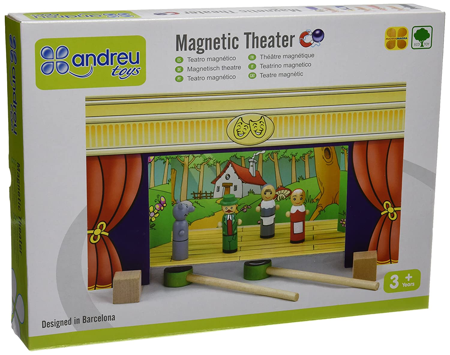 Andreu Toys 32 x 15 x 20.5 cm Magnetic Theatre Playset (Multi-Colour) 16005