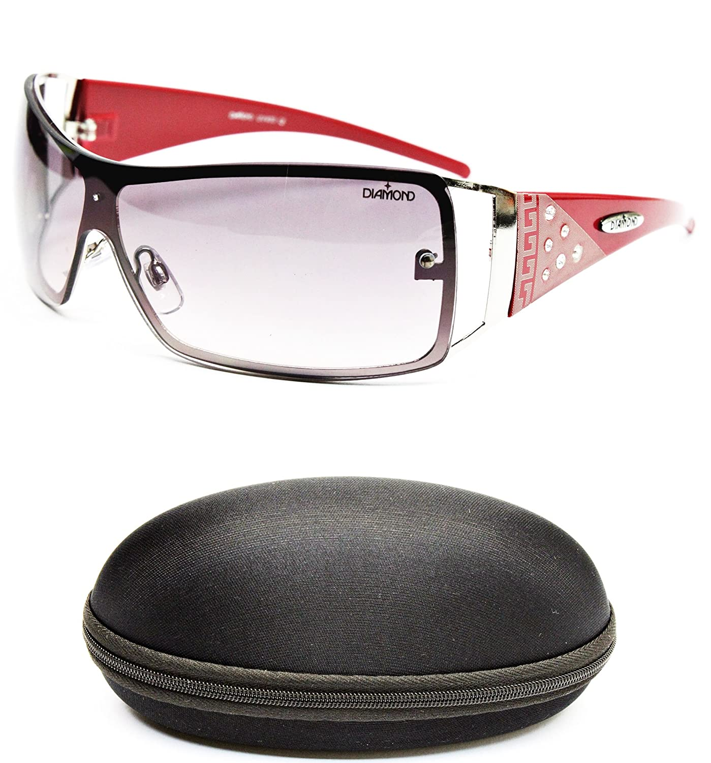 D08-cc Diamond Eyewear Shield Sunglasses