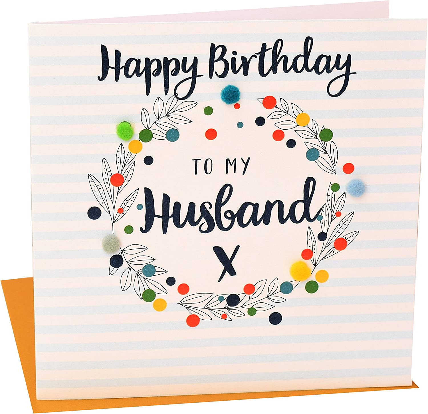 Luxury Embellished pompom Birthday Card Greetings Cards Special Daughter