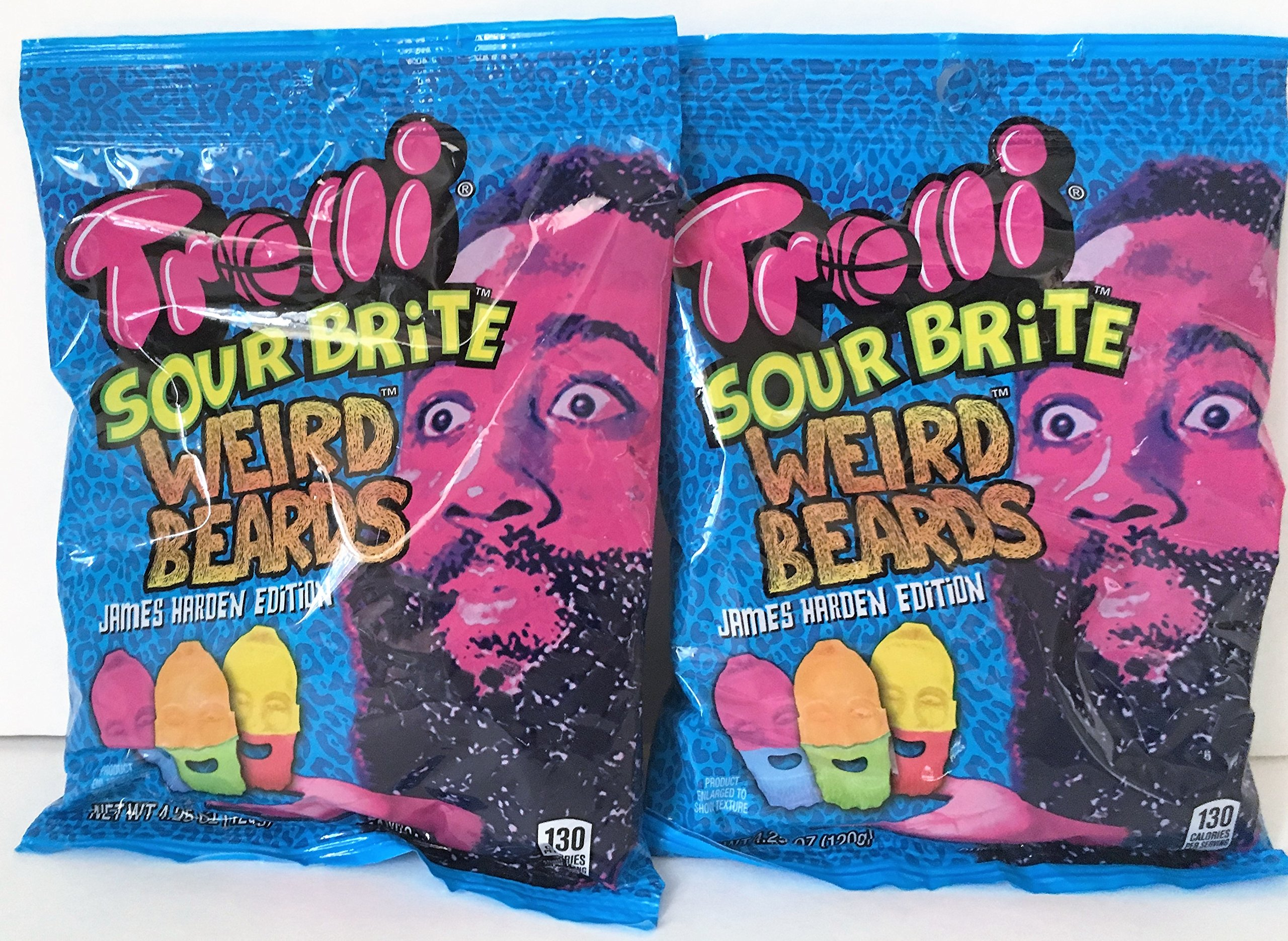 2f31a6c1dd19 Trolli Sour Brite Weird Beards James Harden Edition 4.25 oz Pack of 2 (8.5  Ounces Total)  Amazon.com  Grocery   Gourmet Food