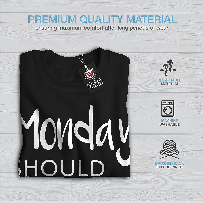 wellcoda Optional Monday Mens Sweatshirt Funny Casual Jumper