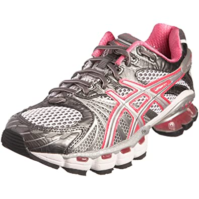 Asics Women s Gel Kinsei 3 Running Shoe White Lightning Hot Pink T987N0191  8.5 UK 5e07a3b9b2