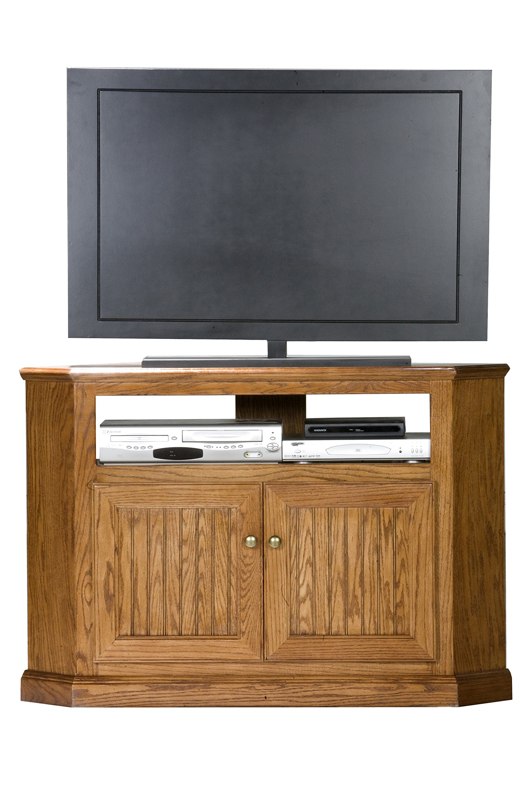 Eagle Heritage Corner TV Cart, 46'' Tall, Medium Oak Finish by Eagle