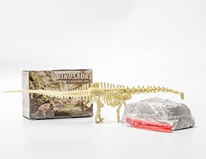 AFU Dinosaur Excavation Kits for Kids, Educational Dino Skeleton Assembly Set, Creative Fossil Dig Dino Toys for 5 - 12 Boys and Girls (Diplodocus)