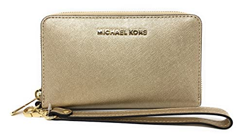 ed52300090a05c Michael Kors Women's, Jet Set Travel Wallet, Gold (Pale Gold 740),. Roll  over image to zoom in