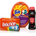 81-Ct Tide Laundry Detergent + Downy Booster Beads + Fabric Softener