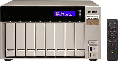 QNAP TVS-873 Ethernet Torre Oro NAS - Unidad Raid (48 TB, Unidad ...