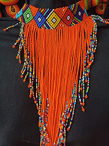 African Necklace Waterfall Necklace Multi Color Zulu Necklace Wholesale Jewelry Maasai Handmade Beaded Necklace
