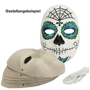 Maske Fur Erwachsene Aus Pappe 6 Stuck Karnevalmaske Papp