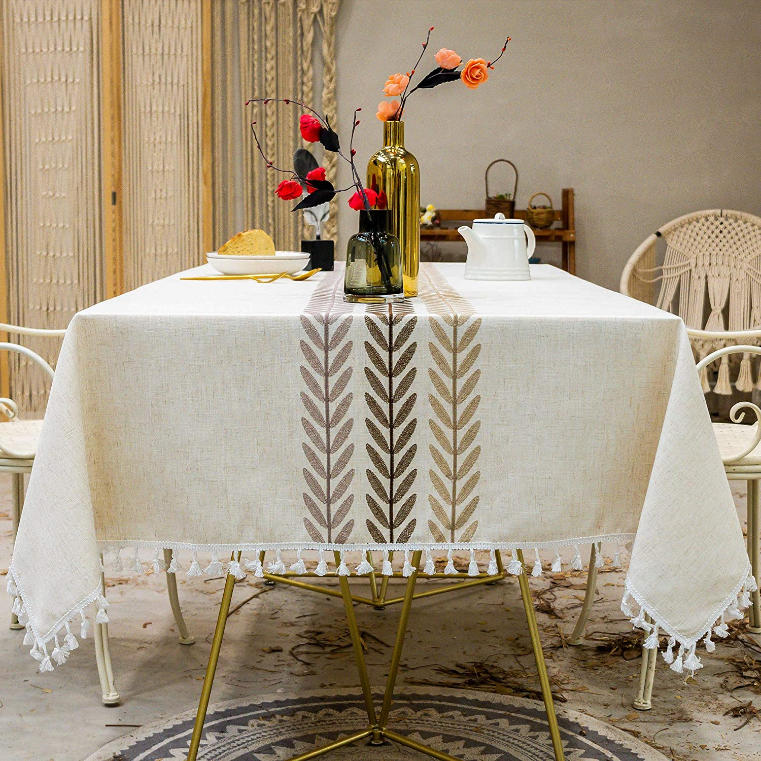 Oubonun Tablecloth for New Shipping Free Shipping Dining Table Tab Rustic Max 85% OFF Kitchen Farmhouse