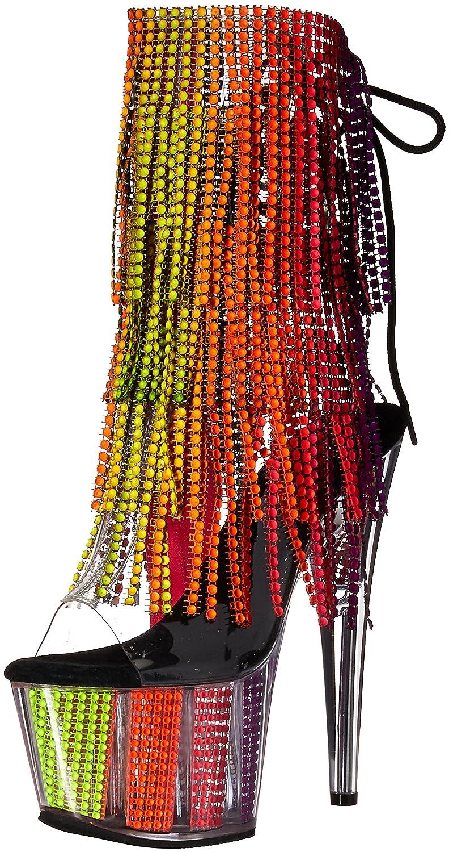 Pleaser Women's Adore-1017SRS Ankle Boot B06XH2HCPV 6 B(M) US|Clr-uv Rainbow Srs/Multi Rainbow Srs