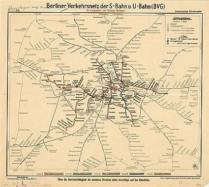 Amazoncom Historic Map Berlin Germany 1946 Berliner - Berlin-us-bahn-map