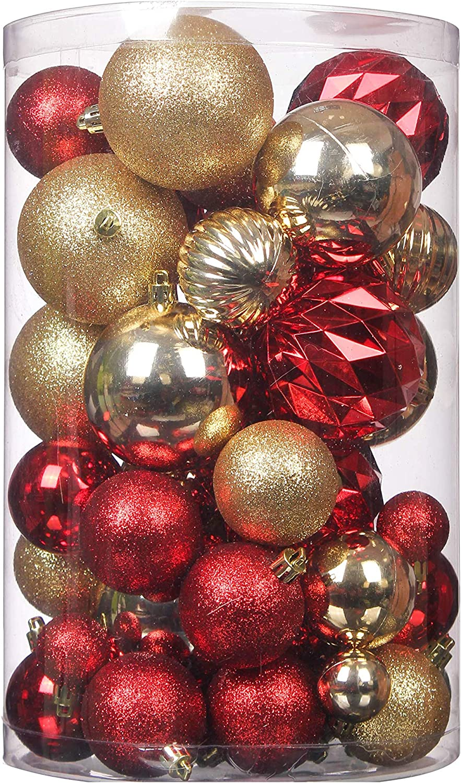 34pcs Christmas Tree Xmas Balls Decorations Baubles Party Ornament New