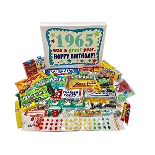 Woodstock Candy 1965 53rd Birthday Gift Box Of Nostalgic Retro From Childhood For 53