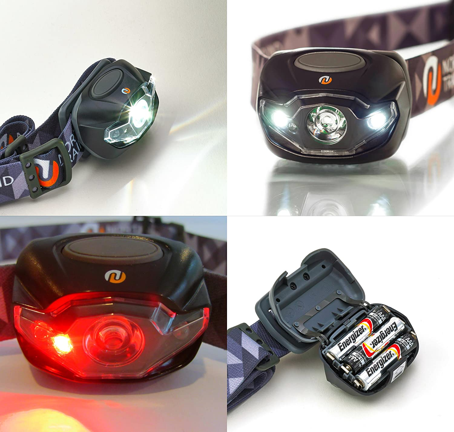 Ultra Bright Led Headlamp Flashlight Plus Hard Case For Exciting Scout Crafts 1 Or 2 Running Camping Hiking White Red Strobe Lights With Dimmer Only 32oz