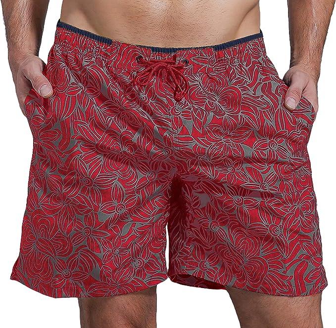 SHEKINI Hombre Pantalones de Playa Pantalones con Costuras de Color Pantalones Cortos Pantalones de Playa