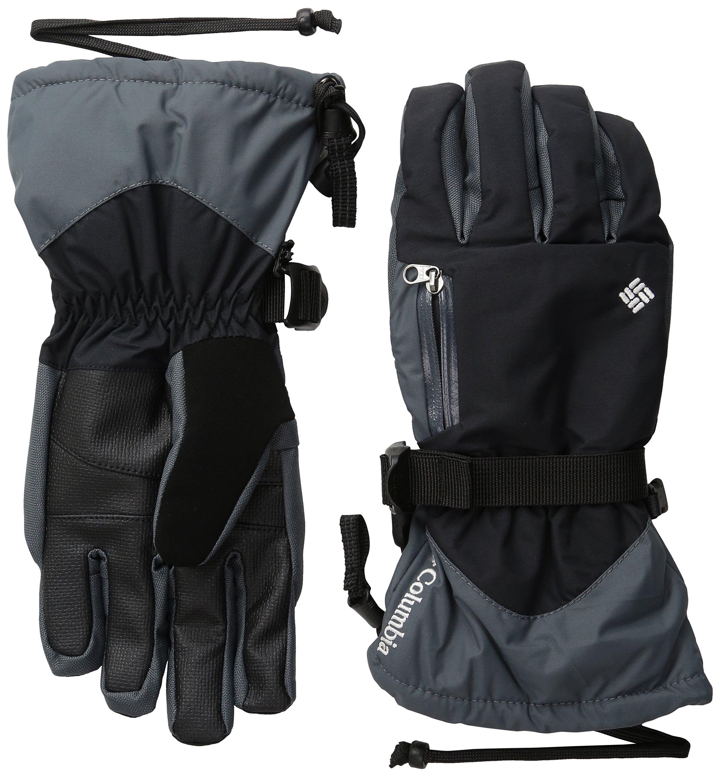 Columbia Women's Bugaboo Interchange Gloves, Black/White, Small