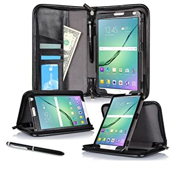 best loved 215d6 c8043 Galaxy Tab S2 9.7 Case - roocase Executive Portfolio Tab S2 9.7 2015  Genuine Leather Case Cover with Stylus for Samsung Galaxy Tab S2 9.7  12.9-inch ...