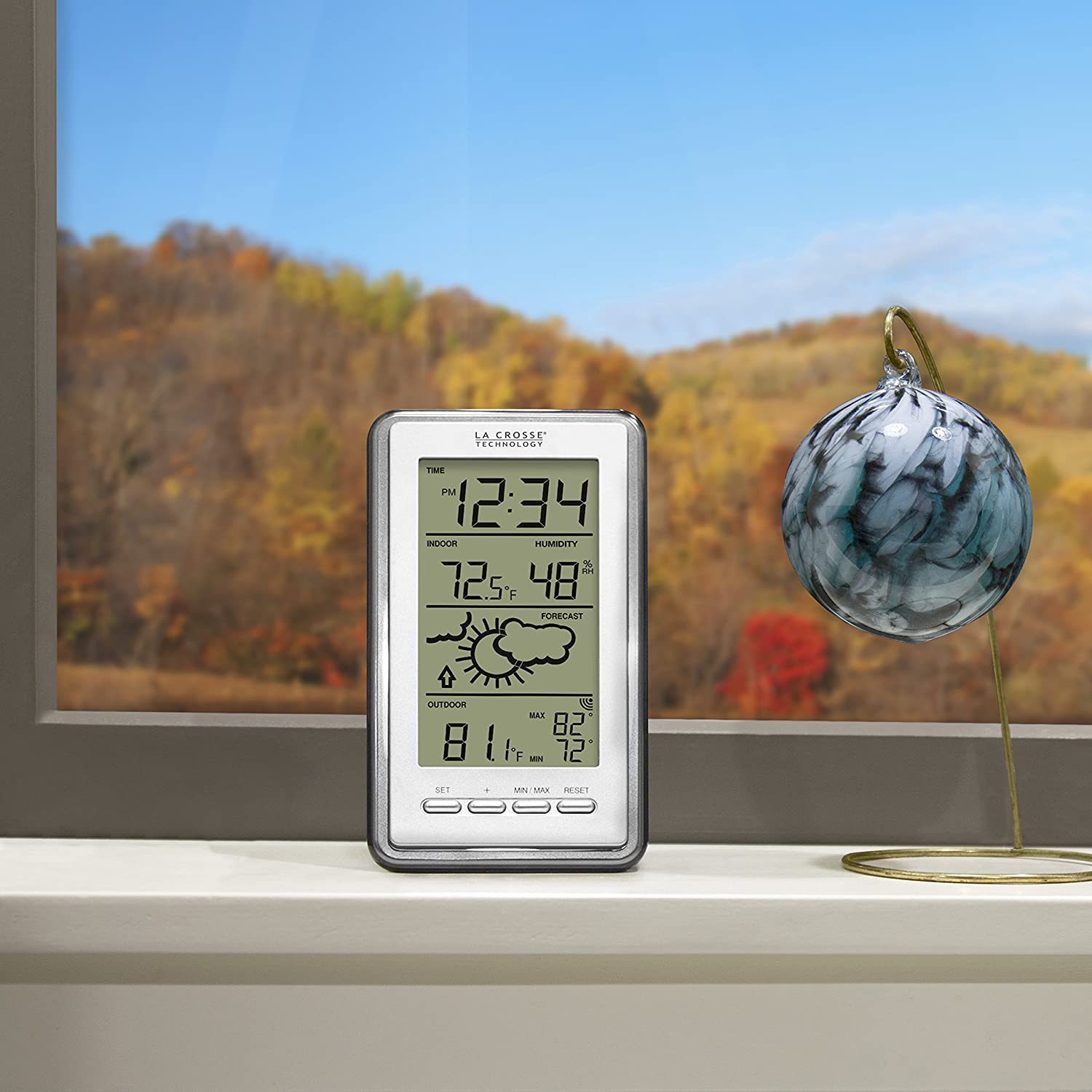 Amazon com la crosse technology ws 9230u it int digital forecast thermometer with temp and humidity home kitchen