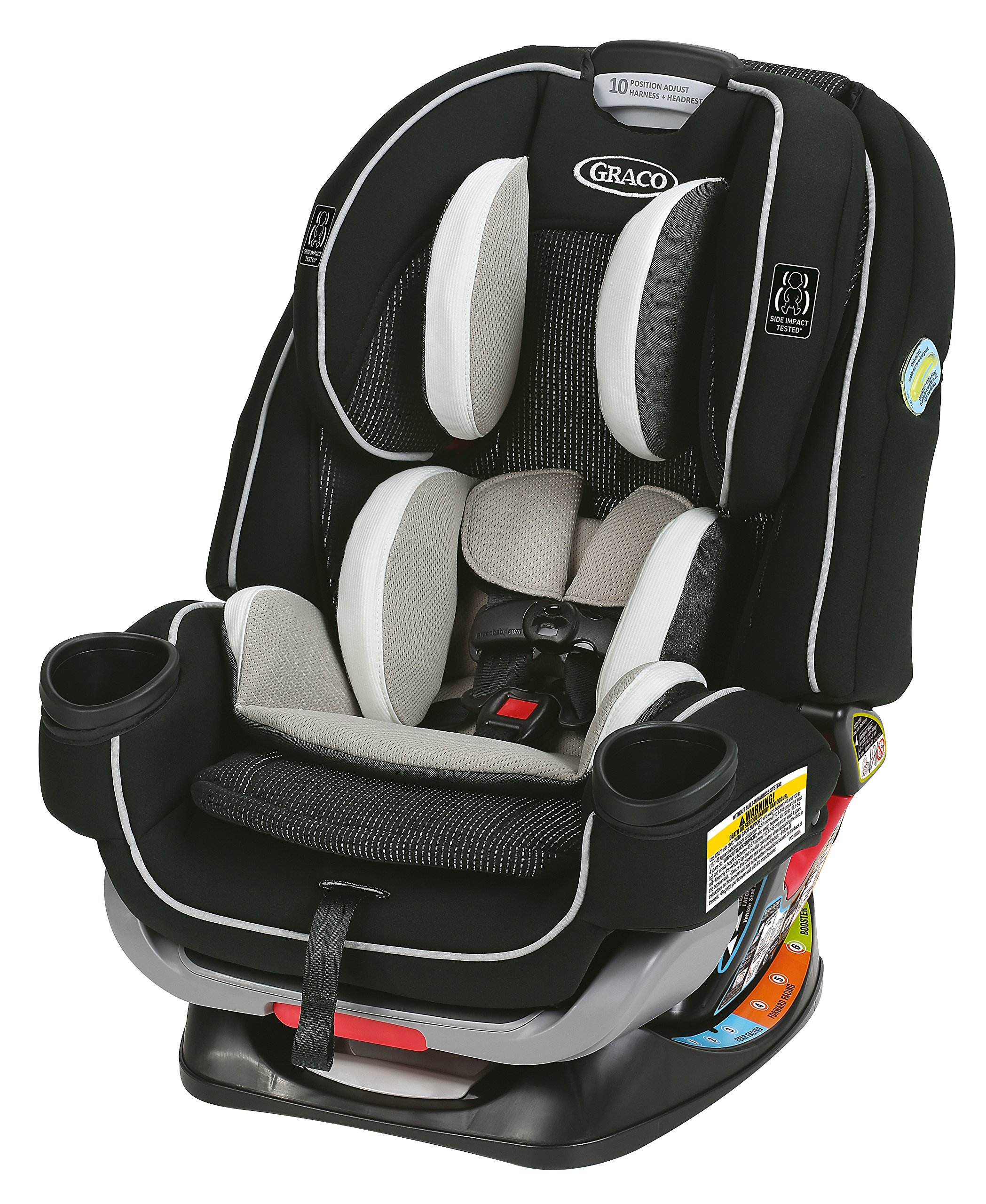 Graco 4Ever Extend2Fit All In One Convertible Car Seat Clove Size