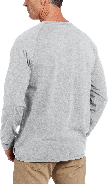 Carhartt Herren Force Cotton Delmont Langarmshirt Regular and Big /& Tall Gr/ö/ßen 100393