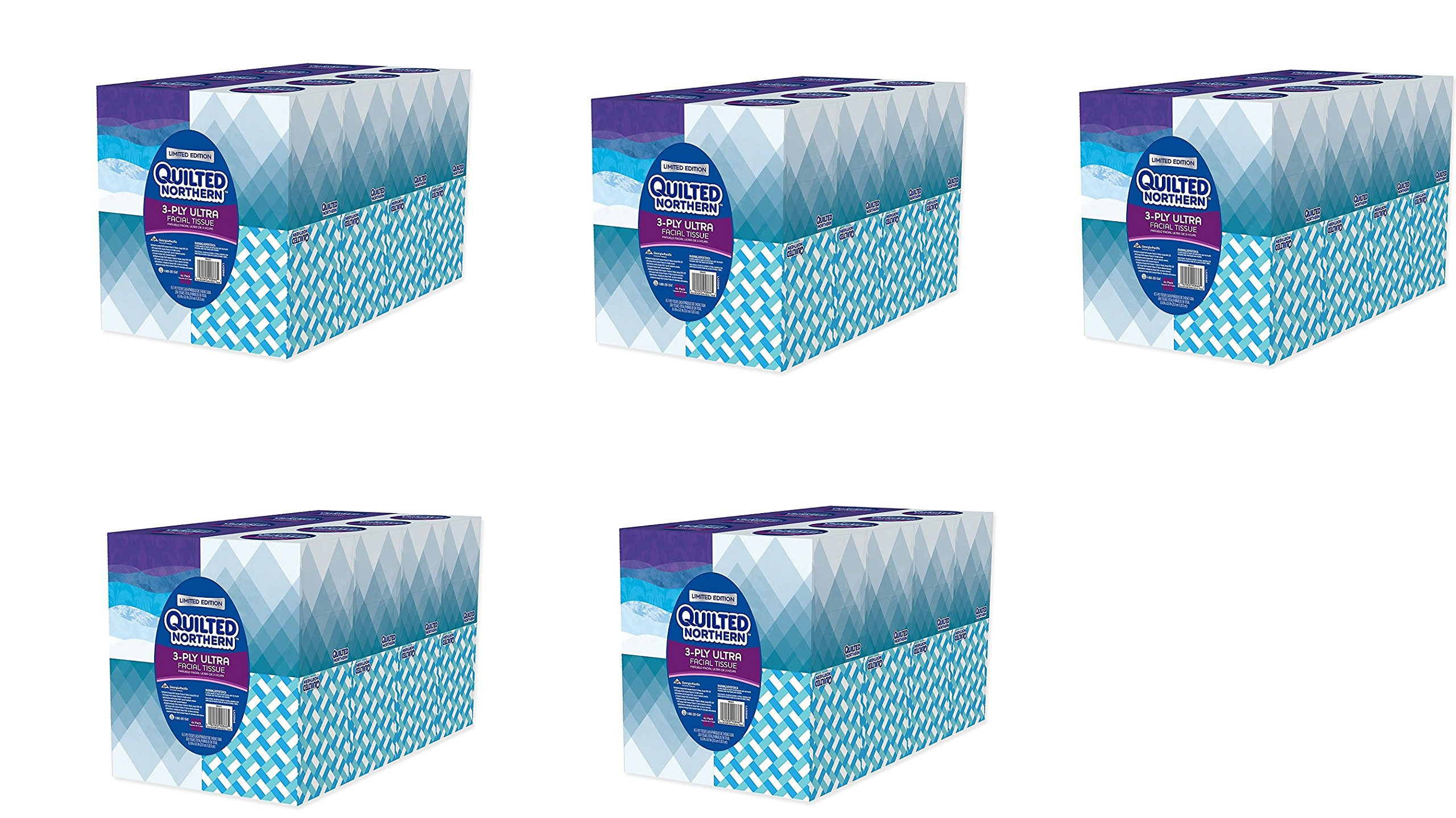 Quilted Northern Ultra fbUBEr Facial Tissue Cube, 16 Boxes (Pack of 5)