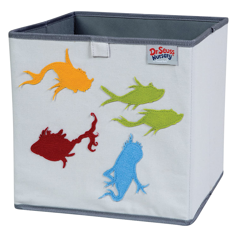 Trend Lab Dr Seuss Fish Storage Bin Yellow//Green//Red//Blue//Gray