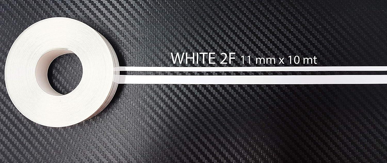 Bianco Quattroerre 10023 Rotolo Strisce Adesive con 2 Fili