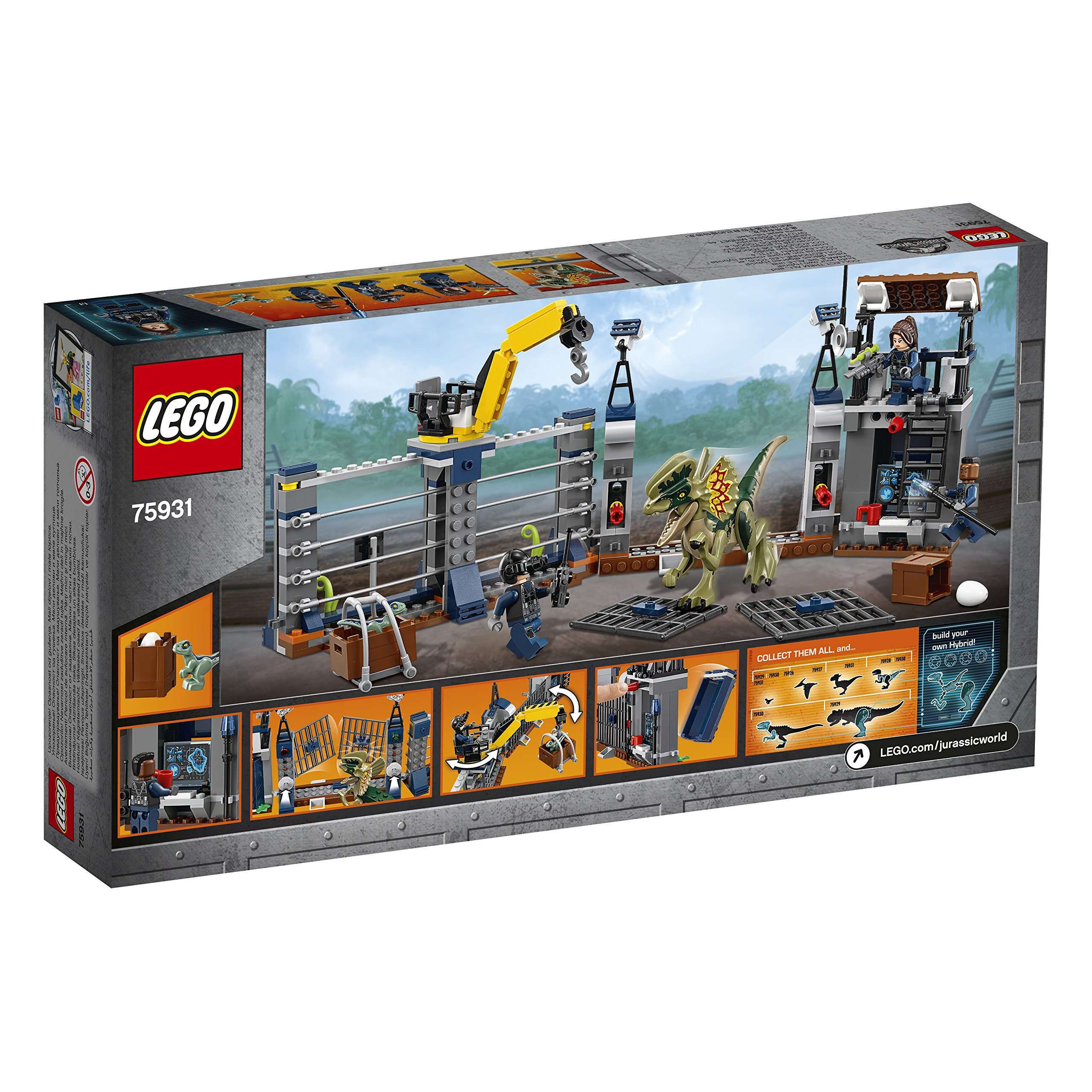 LEGO 75931 Jurassic World Dilophosaurus Outpost Attack Playset, Dinosaur Figures, Build & Play Dinosaur Toys for Kids by LEGO (Image #4)