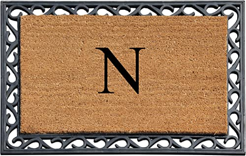 A1 Home Collections Tray Mat First Impression Rubber Monogrammed -N, 24 L x 36 W